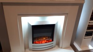Valetta Marble Fireplace to Clear Was £899 NOW £689 . Celsi Electraflame XD fire was £649 NOW £439.