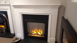 The Derry Fireplace with Granite Interior & Gotham 600 electric fire Was £1789 NOW £1180 Ex Display to Clear