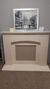 Brecon Micro Marble Fireplace . To suit Flamerite Gotham 600 fire . Flat wall version . Was £1260 NOW £800 Ex Display
