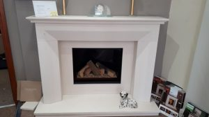 Kinder Angelo Stone Fireplace & Celina Gas Fire was £2345 NOW £1590 Ex Display