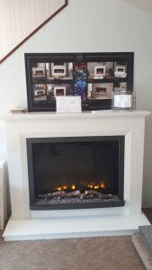 Elgin & Hall ALESSO Fireplace with Pryzm Electric Fire was £1490 NOW £999 Ex Display