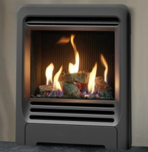 Gazco Logic H.E. Log effect Slide control Gas Fire . Was £1154 . NOW £899 . Still in box .