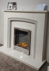 Estoril 51 micro marble fireplace inc Colarado fire , was £1408. NOW £1290