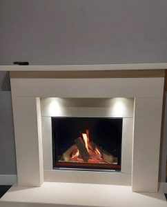 Stafford Solid Stone Fireplace including Celina Gas Fire was £2420 Now £2190