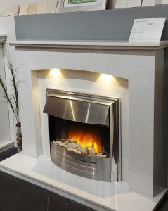 Brecon 50 micro marble fireplace, choice of colour. Inc Flamerite Cisco 22 fire ,was £1519 NOW £1300.