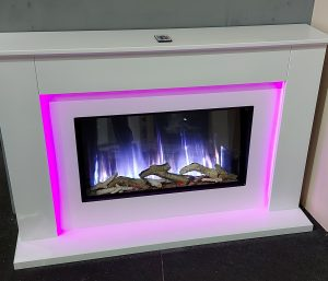 Flamerite Telisa Suite. Nitra flame. Choice of finish . Was £1874 NOW £1650