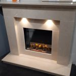 Ex Display to clear . Stafford Micro Marble Fireplace with Infinity electric fire . Was £1790 NOW £1290