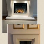 The Beautiful Boston Fireplace fitted with the Gotham 600 FlameriteFires last week. The fire was recessed into an internal wall to create a standard depth to the fireplace